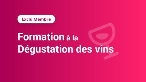 [Exclu Membre] Formation à la dégustation des vins