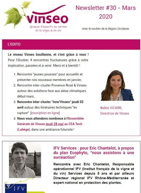 Newsletter Vinseo #30 – Mars 2020