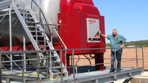 Gilles Matéo est le responsable commercial des vignobles du Sud-Ouest et de l'Occitanie pour Bucher Vaslin