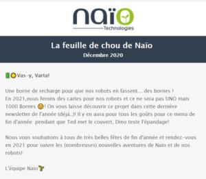 [Newsletter membre] La feuille de chou de Naïo - Décembre 2020